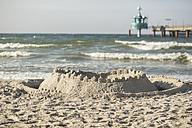 Germany, View of sandcastle on beach at baltic sea - STB000019