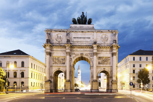 Germany, Bavaria, Munich, Victory Gate - MSF002984