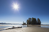 Canada, British Columbia, Vancouver Island, Pacific Rim National Park Reserve of Canada, Long Beach with rocky island - FOF005300