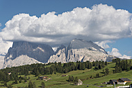 Italy, South Tyrol, Seiseralm, Plattkofel and Langkofel - HL000217