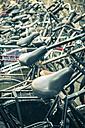 Netherlands, Delft, Row of bicycles - EL000437