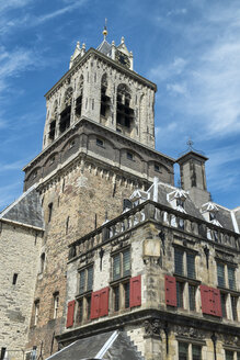 Netherlands, Delft, Old town hall tower at the market square - ELF000429