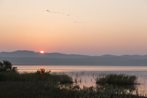 Croatia, Dalmatia, sunrise at Vransko jezero - DRF000192