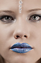 Young woman with blue lips - DR000197