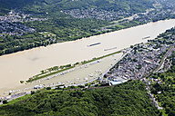 Germany, Rhineland-Palatinate, High water of River Rhine at Remagen, aerial photo - CS019947