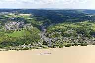 Germany, Rhineland-Palatinate, High water of River Rhine at Dattenberg, aerial photo - CSF019949