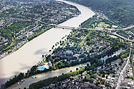 Germany, Rhineland-Palatinate, High water of River Rhine at Koblenz Oberwerth, aerial photo - CSF019957