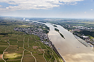 Germany, View of Ruedesheim and Kempten at River Rhine, aerial photo - CSF019966