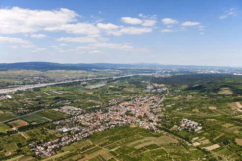 Germany, Rhineland-Palatinate, View of Heidesheim surrounded by fields, aerial photo - CSF019971