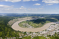 Germany, Rhineland-Palatinate, loop of the River Rhine at Boppard, aerial photo - CSF019990