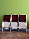 Germany, Berlin, seats of a cinema in a flat - BSCF000379