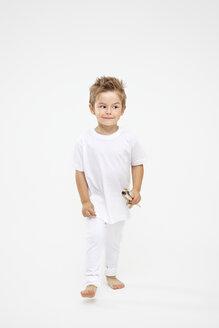 Toddler holding paint brushes - MVC000029