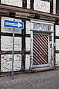 Germany, Saxony-Anhalt, Wernigerode, one way sign - WIF000047