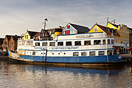Germany, Husum, ship restaurant at harbour - WI000050