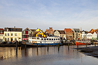 Germany, Husum, ship restaurant at harbour - WI000052