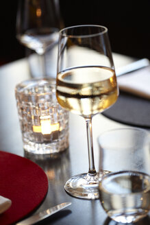 White wine glass in a restaurant - BME000001