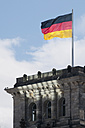 Germany, Berlin, German flag at Reichstag Building - BFR000293