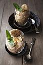 Banana yogurt ice cream with flapjacks, studio shot - EVGF000215