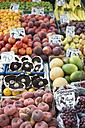 UK, Norwich, fresh fruits at market stall - ELF000458