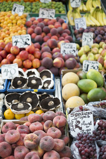 UK, Norwich, fresh fruits at market stall - ELF000458