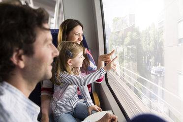 Happy family in a train - KFF000270