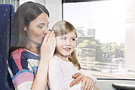 Mother and daughter in a train - KFF000263