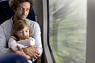 Father and daughter in a train - KFF000228