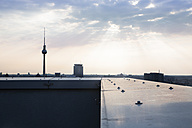 Germany, Berlin, View over city from rooftop terrace - FKF000272