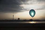 Germany, Berlin, View over city from rooftop terrace - FKF000262
