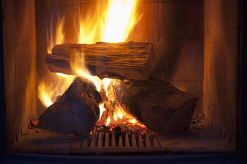 Fire in a fireplace - CSF020031