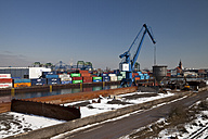 Germany, North Rhine-Westphalia, Dortmund, container at harbour - WI000082