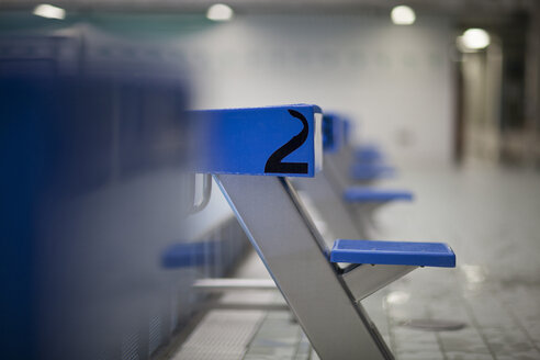Starting blocks at indoor swimming pool - SEF000088