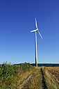 Germany, North Rhine-Westphalia, Herford, wind turbine - HOH000241