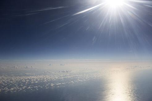 Cloudscape and sun above the Mediterranean Sea - STB000061