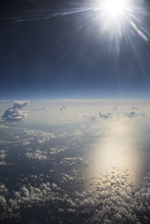 Cloudscape and sun above the Mediterranean Sea - STB000065