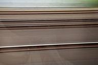 Germany, North Rhine Westphalia, view through train window during journey - WIF000112