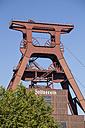 Germany, North Rhine-Westphalia, Essen, Zollverein Coal Mine Industrial Complex, headframe - WI000109