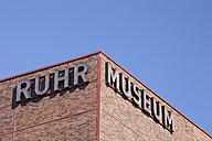 Germany, North Rhine-Westphalia, Essen, Zollverein Coal Mine Industrial Complex, Ruhr Museum - WI000111