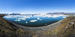 Iceland, Austurland, Jokulsarlon Glacial Lagoon near Vatnajokull National Park - STSF000161