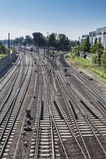 Germany, Ulm, Railroad rails - HAF000232