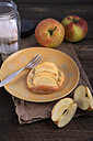 Apple tartlets on wooden table - ODF000575