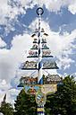 Germany, Bavaria, Munich, maypole at Viktualienmarkt, reinheitsgebot, beer - AS005194