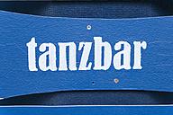 Germany, Munich, Tollwood Festival, sign Tanzbar - TC003587