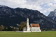 Germany, Bavaria, Swabia, Schwangau, view to pilgrimage church St. Coloman - LB000328