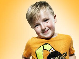 Portrait of little boy, studio shot - STKF000376