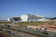 Brazil, Sao Paulo, district Itaquera, construction site Arena Corinthians - FLK000152