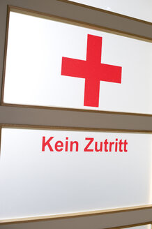 Germany, Bavaria, symbol no admittance in the hospital - LB000358