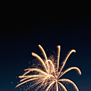 Fireworks exploding in the sky at night - KJF000276