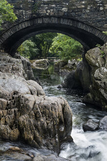 Great Britian, Wales, Betws-y-Coed, Conwy river Snowdonia National Park - ELF000573