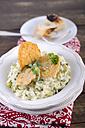Leek risotto with parmesan crisps - ODF000589